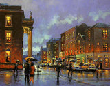 A painting of people on Henry Street, Limerick