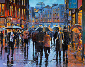 On Grafton Street  A painting of people on Grafton Street, Dublin