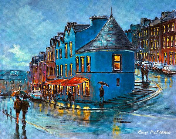 A painting of a street in Cobh, Co Cork