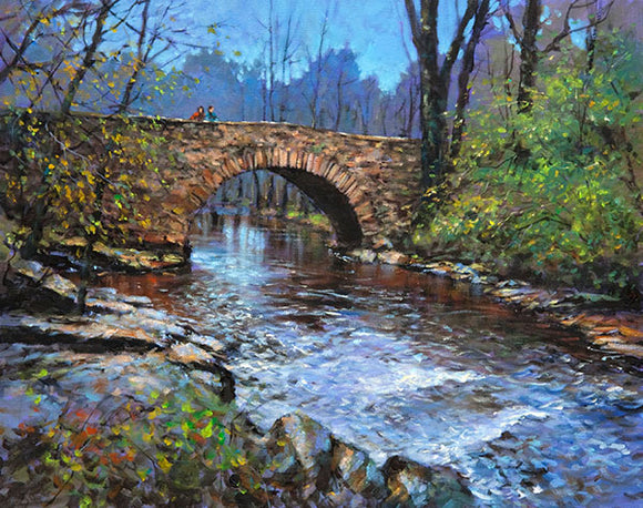 A painting of the river at the Clare Glens , Co Tipperary