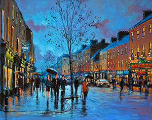 A painting of the main street in Nenagh, Co Tipperary