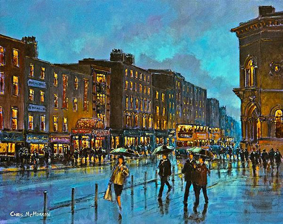 A painting of Dame Street, Dublin