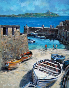 A painting of Coliemore Harbour, Dalkey, Co Dublin