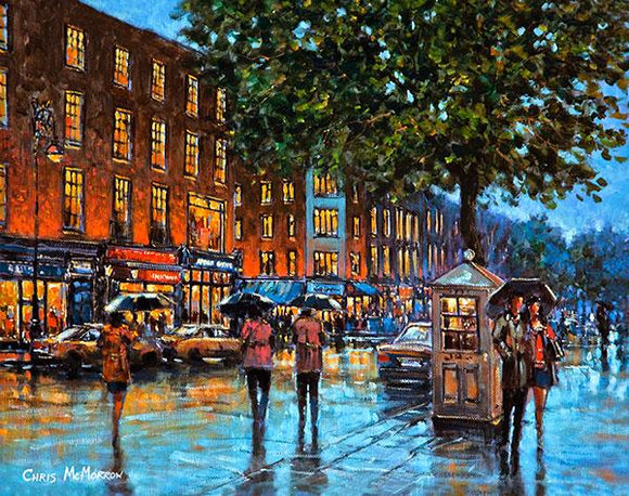 A painting of a view of Dawson Street, Dublin