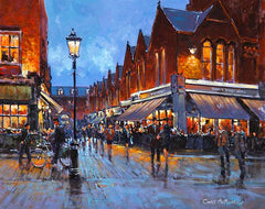 A painting of Castlemarket at evening time
