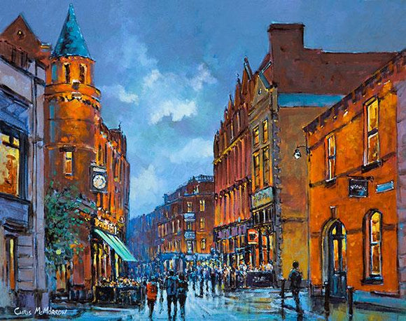 A painting of Harry Street, Dublin city centre