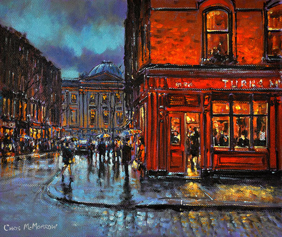 Painting of The Turks Head and Chop House in Temple Bar, Dublin.