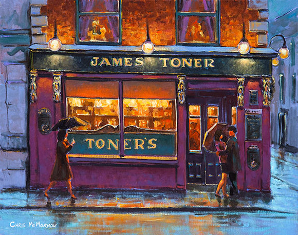 A painting of Toners Bar, Baggot Street, Dublin