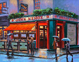 A painting of Kehoes Pub , South Anne Street, Dublin