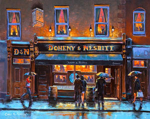 A painting of Doheny and Nesbitts Pub, Dublin