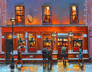 A painting of Nearys Bar, Chatham Street, Dublin