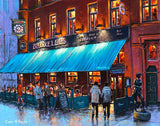 A painting of Bruxelles pub, Harry Street, Dublin