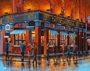 A painting of the International bar and lounge, Dublin