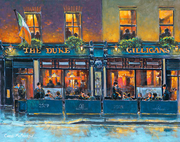 A painting of the Duke Pub, Dublin