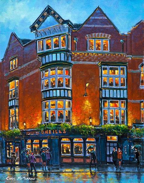 A painting of O'Neills Pub, Suffolk Street, Dublin