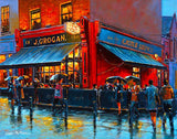 A painting of Grogans Bar and Lounge, Castlemarket, Dublin