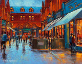A painting of the cafes on Castlemarket, Dublin