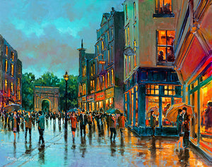 A painting of Grafton Street looking towards Stephens Green