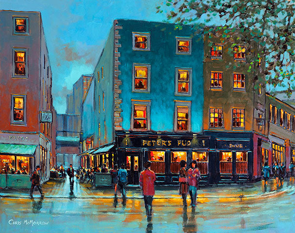 Painting Print Of Peter S Pub South William Street Dublin
