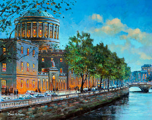 A painting of the Four Courts and Liffey, Dublin