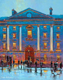 A painting of the lights of Trinity College building