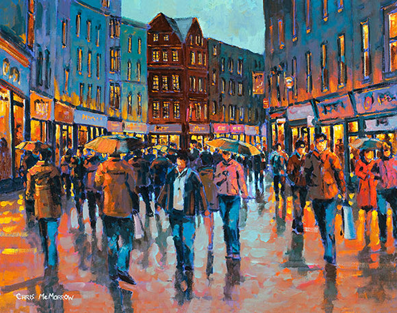 People on Grafton Street   476A painting of Grafton Street people
