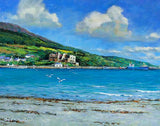 A painting of the harbour in Carlingford, Co Louth