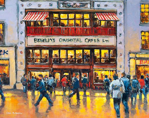 A painting of Bewleys Cafe, Grafton Street, Dublin