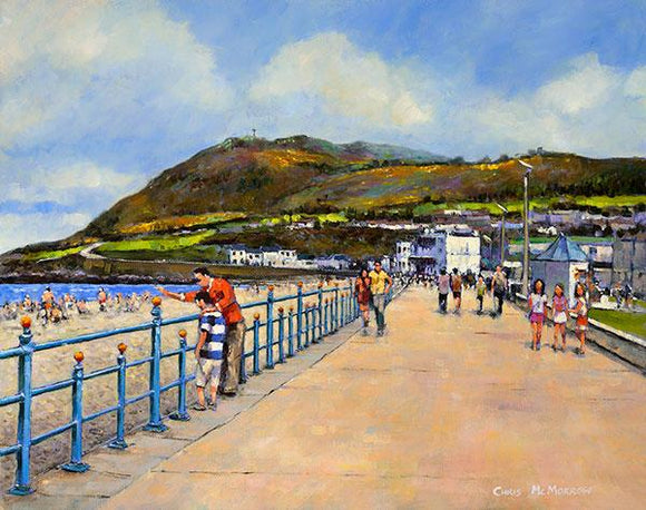 A painting of people out walking on the Promenade in Bray, Co Wicklow