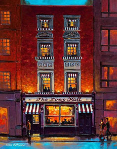 A painting of the Long Hall pub, Dublin
