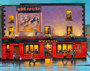 A painting of Sheehans Bar, Dublin