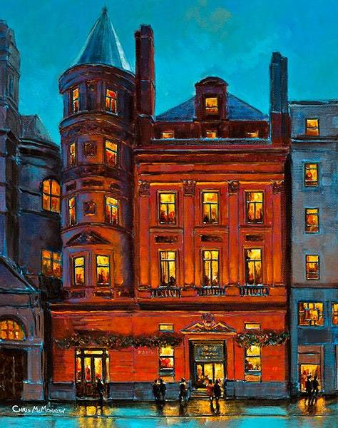 A painting of the Bank Pub, College Green