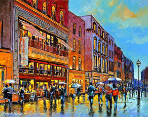 A painting of Bewleys Cafe on Grafton Street, Dublin