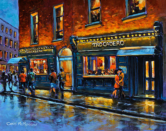 A painting of the Trocadero Restaurant, Dublin