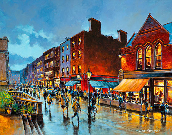 A painting of a view of South William Street