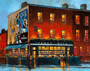 A painting of Gills Corner House pub, North Circular Road, Dublin