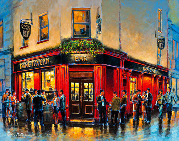 A painting of the Dame Tavern, Dublin