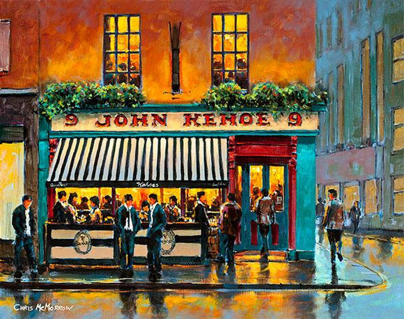 A painting of Kehoes Pub on South Anne Street, Dublin.