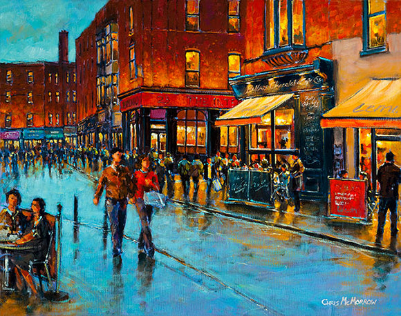 A painting of South William Street, Dublin