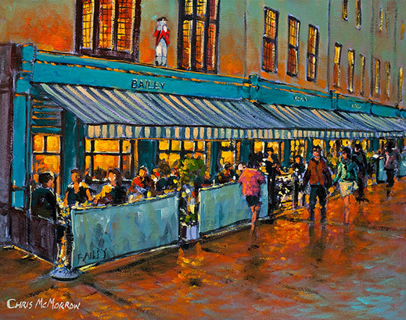 A painting of the Bailey Pub, Duke Street, Dublin