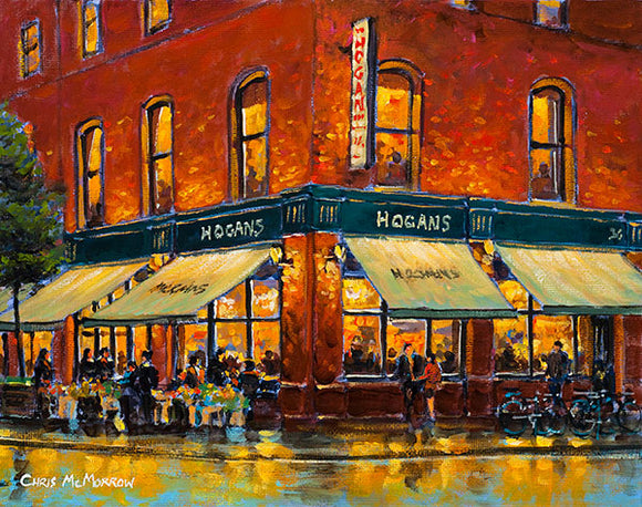 A painting of the Hogan Stand pub on Georges Street, Dublin