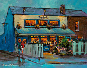 A painting of the Bath Pub in Sandymount, Dublin