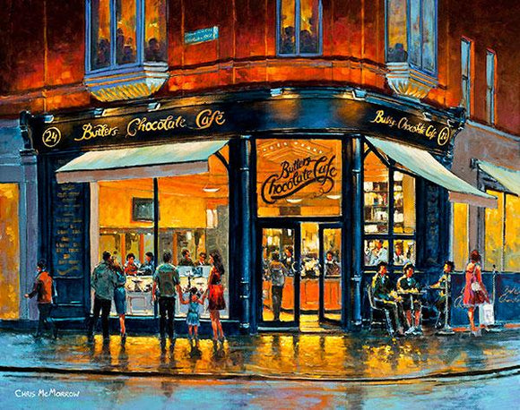 Painting of Butlers Cafe, South William Street, Dublin