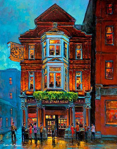 A painting of the Stag's Head Bar, Dublin