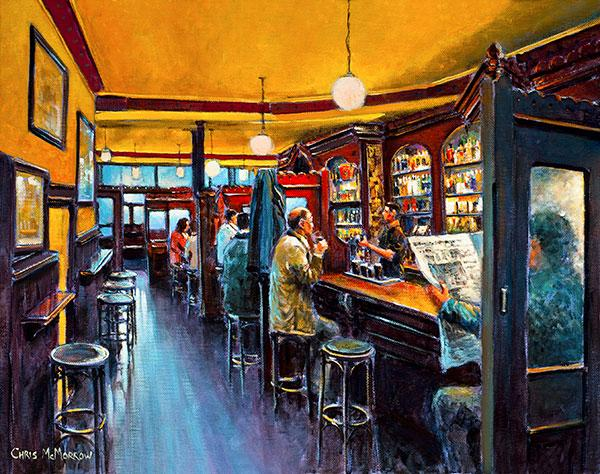 Painting Print Of People Enjoying A Drink In Kehoes Pub