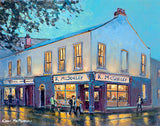 A painting of McSorleys  public house in Ranelagh, Dublin..