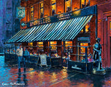 A painting of Bruxelles bar, Harry Street, Dublin