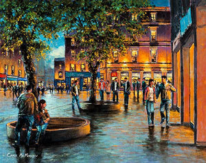Painting of Grand Parade , Cork in the Evening