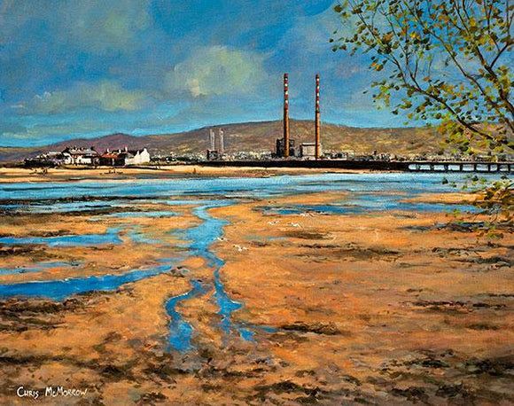 Painting of Dublin Bay from the coast road, Dollymount