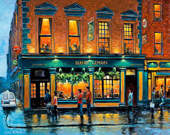 A painting of The Hairy Lemon Pub, Dublin